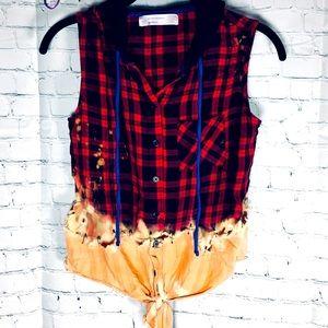 ✂️ Handmade Skater-Punk Bleached Flannel 💯